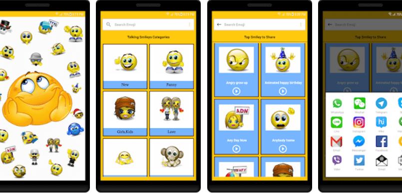 Talking Smileys and Emojis App Screenshot