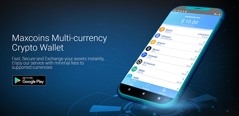 Maxcoins Multi-Cryptocurrency Wallet App for Android