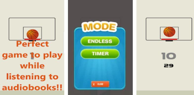 Basketball Fling Arcade game screenshot