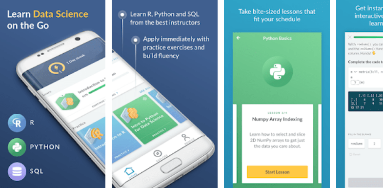 DataCamp App for Android Screenshot