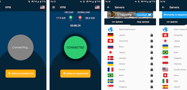 V 12 Turbo VPN Screenshot