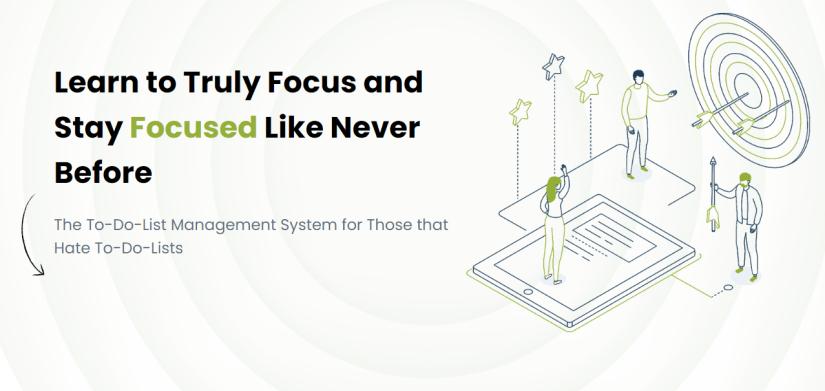 Bold Focus Productivity Task Board, Focus Planner