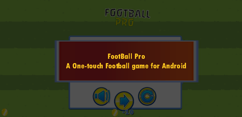 FootBall Pro A One Touch Football game for Android