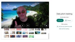 google background meet change