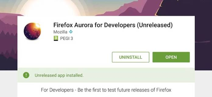 Firefox Aurora for Developers