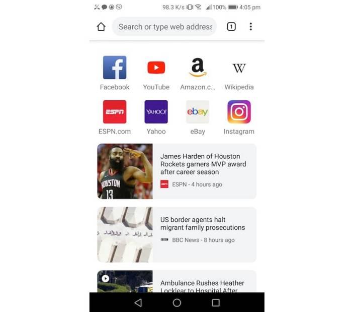 Launch Kiwi Web Browser