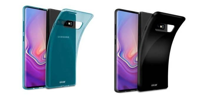 Olixar FlexiShield Samsung Galaxy S10 Gel Case Blue and Black