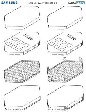 Samsung smartphone borderless design 3