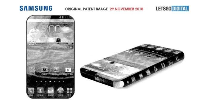 Samsung smartphone borderless design