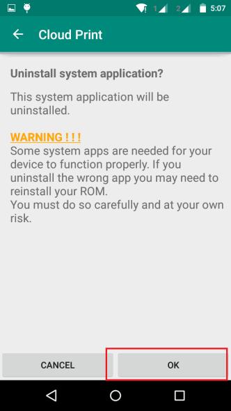 Uninstall an App