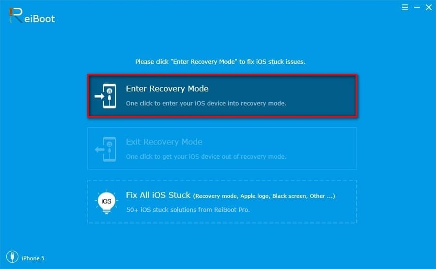 enter recovery mode ios iphone ipad