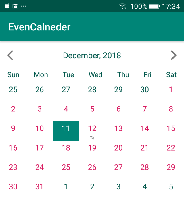 Android Calendar Library | Top 20 Curated List - Android Dvlpr