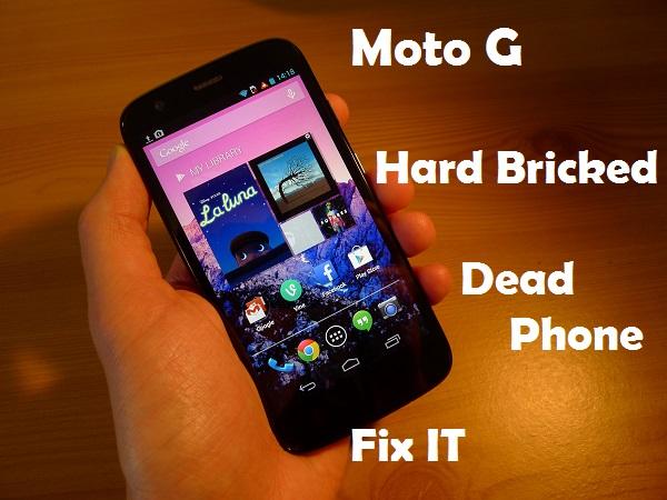 Как исправить жесткий кирпич Moto G (мертвый телефон)