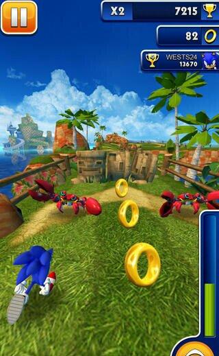 Скачать Sonic Dash для iPhone и iPad