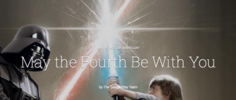 Promocion Star Wars en Google Play Store