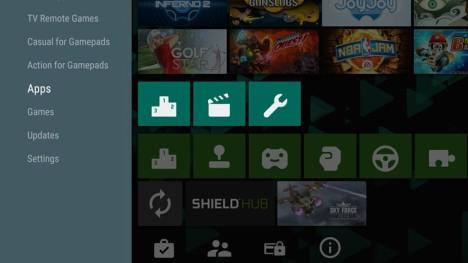 Aplicación de Play Store para Android TV