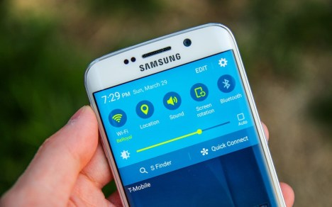 herramientas perdidas en configuracion rapida del Galaxy S6