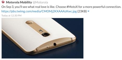 Moto X Pure Edition en Twitter