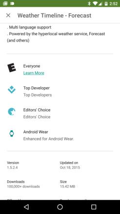 Aplicaciones para Android Wear 02