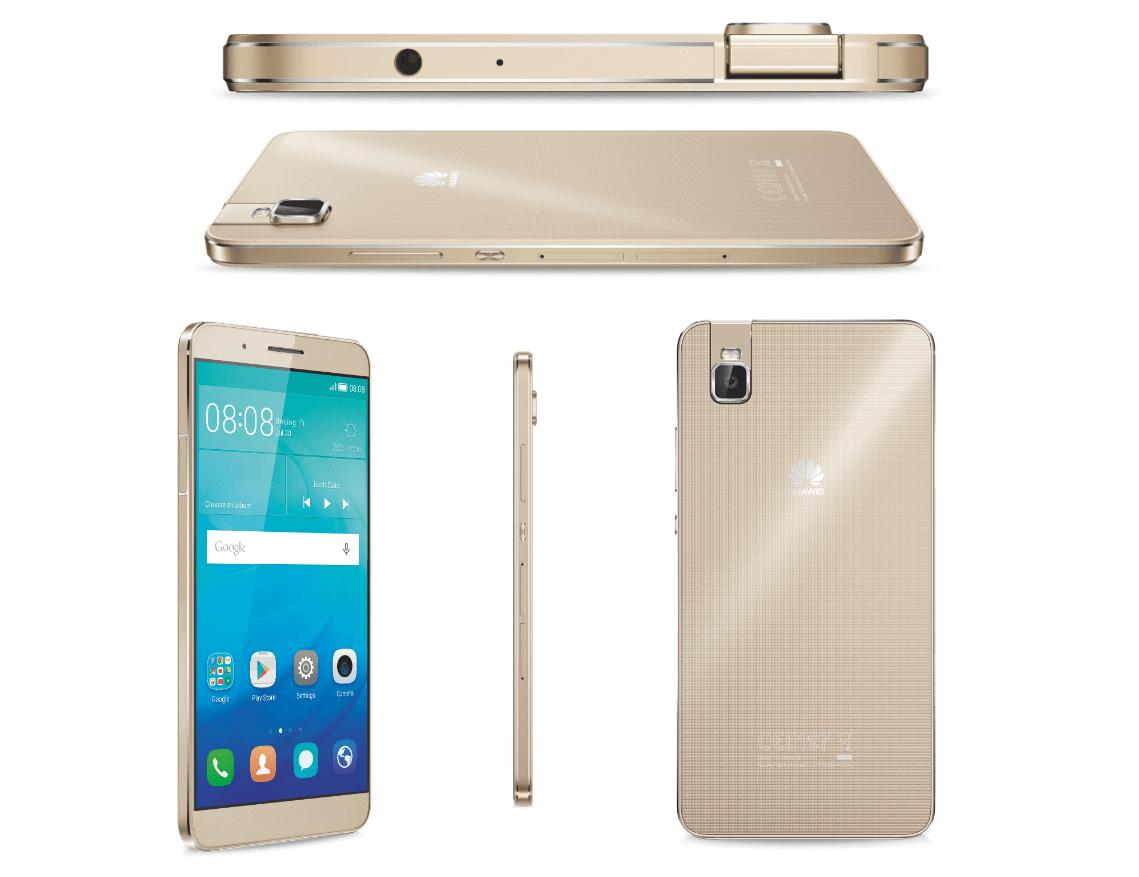 Diferentes vistas del Huawei Honor 7i