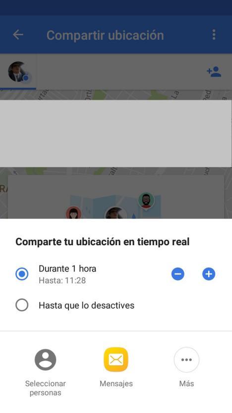 compartir recorridos en Google Maps