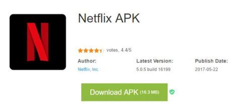 Descargar APK NetFlix para Android