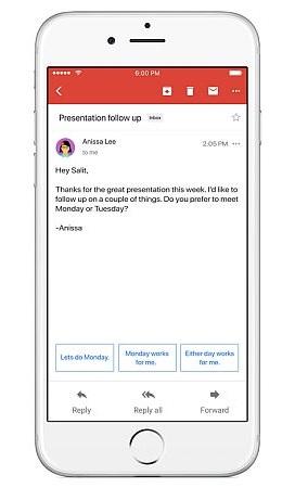 respuestas rapidas en gmail android