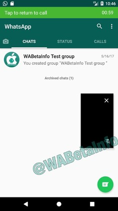 Picture and Picture en WhatApp Android