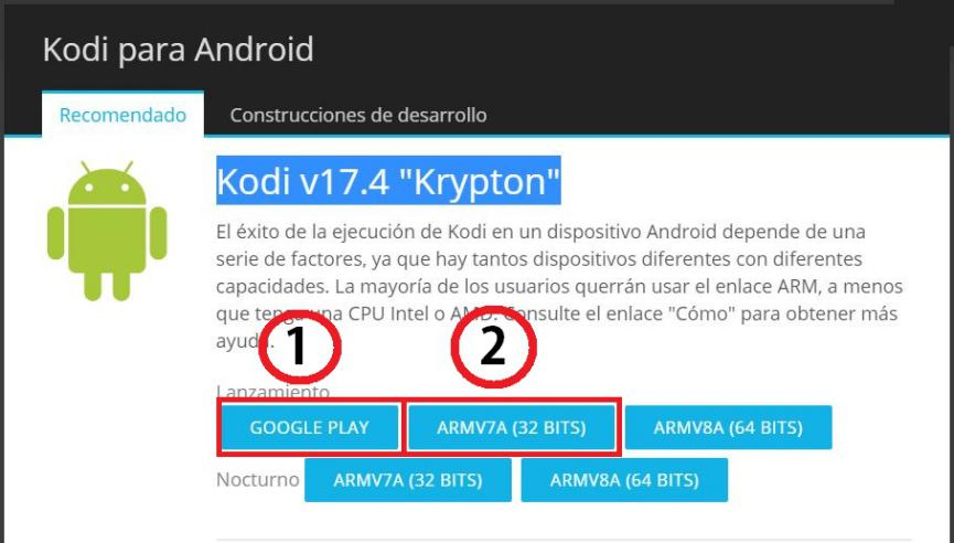 Kodi 17.4 Krypton en marshmallow android 6.0.1
