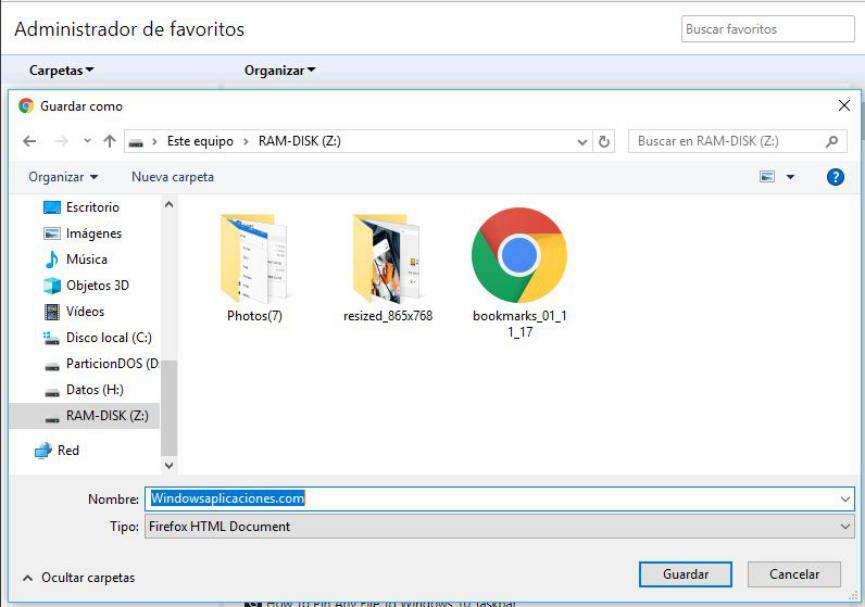 Bookmark Folder importar marcadores del PC a Android