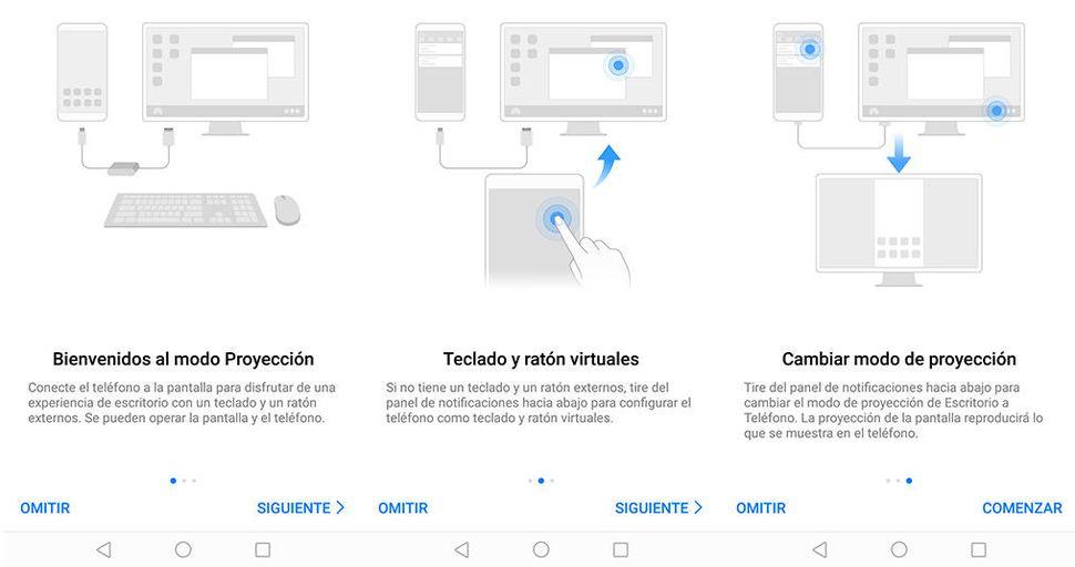 Huawei Mate 10 modo proyección