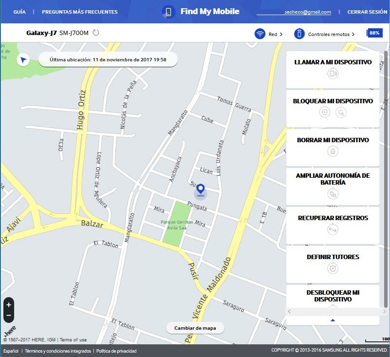 encontrar mi Samsung Galaxy perdido