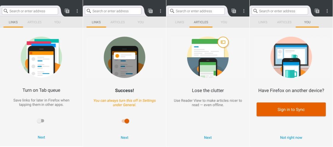 navegacion rapida por internet en Android