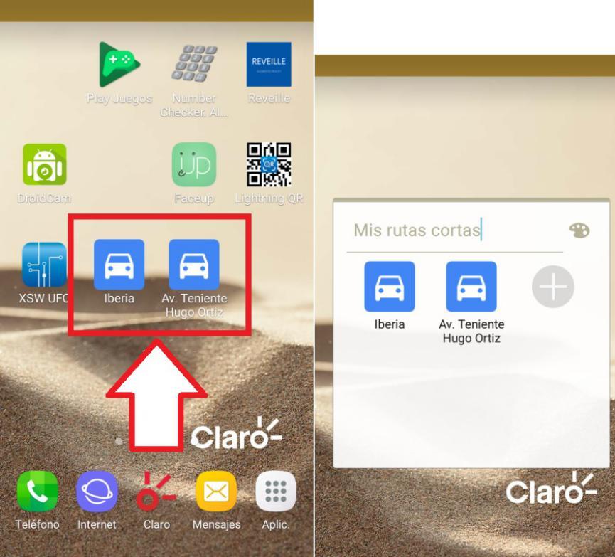 fijar recorridos Google Maps en Escritorio Android