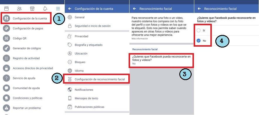 Reconocimiento Facial en Facebook Android