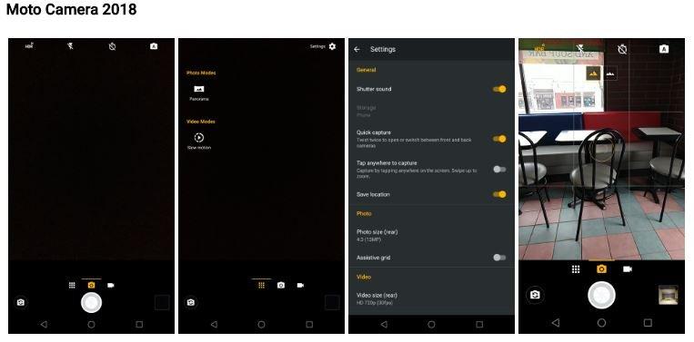 Aplicación de la Cámara Motorola