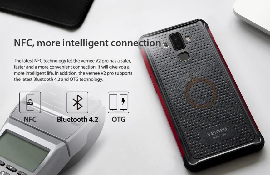 Vernee V2 Pro conectividad NFC