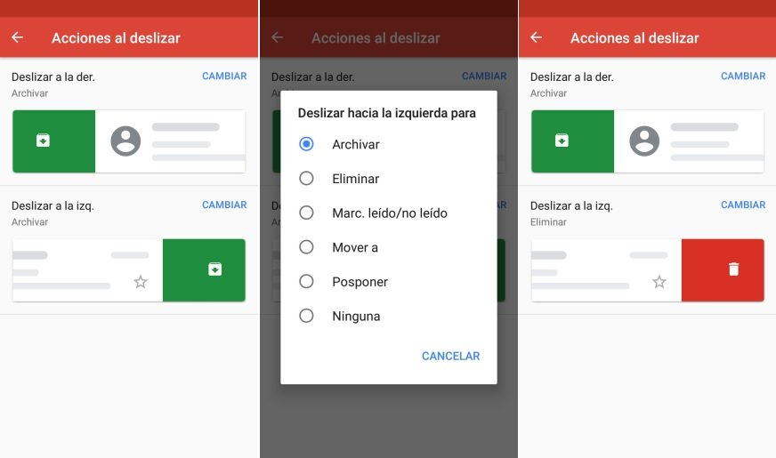Eliminar mensajes gmail Android