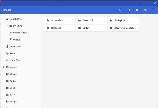 explorar contenido Android en Chrome OS