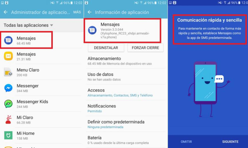 configurar mensajes android en el PC