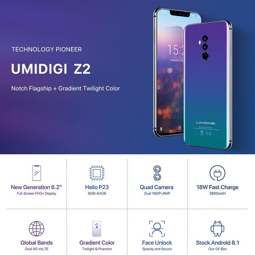 SmartPhones Poderosos Android UmiDigi Z2