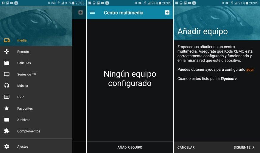Convertir SmartPhone Android en Control remoto KODI
