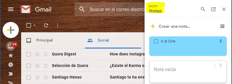 Keep Notas en Android