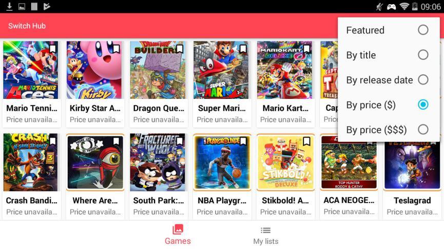 Nintendo Switch Hub en Android