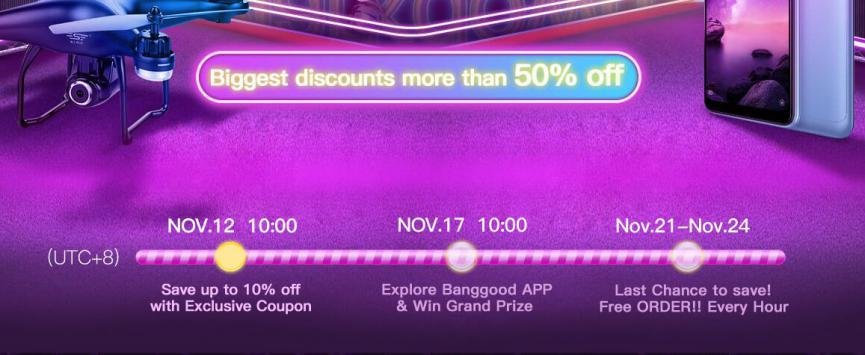 Promociones Banggood Black Friday