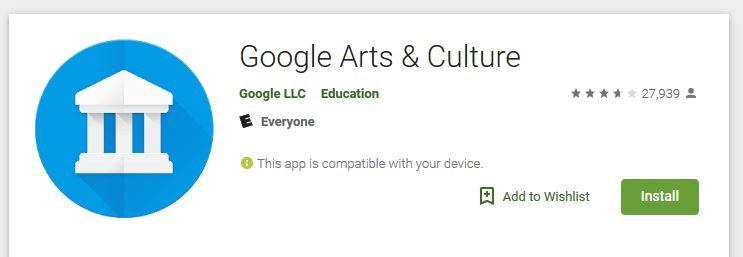 Google Arts buscar tu doble