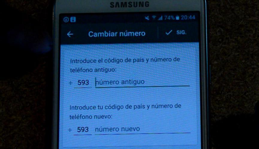 cambiar numero de WhatsApp Android