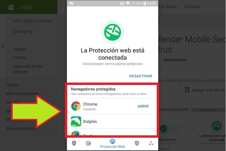 Instalar Bitdefender para chrome Android