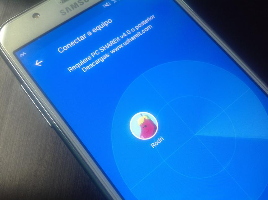 shareit transferir archivos android al pc