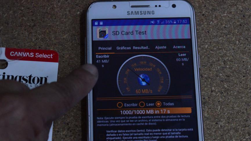 Test de Velocidad en microSD: Usar la Correcta para Grabar Video